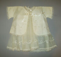 Old Vtg Ca 1959 Little Girls 2 Piece Christening Dress and Jacket Gown Beautiful