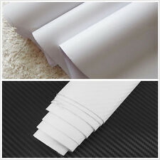 "15""x 39"" White Carbon Fiber Vinyl Wrap 3D 4D Stickers Car Interior Accessorie"