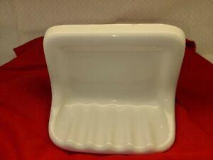 NEW White Ceramic Tile Soap Dish 4x6 Inset, 7x5 Overall Mexico 1010T