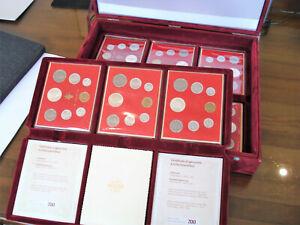 Komplettsammlung Vatikan Paul VI. 1963-1978 17 Jahrgänge Kursmünzensätze mit Box
