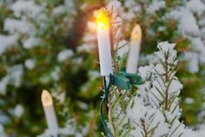 Solar Lichterkette für Außen mit 10 flackernden LED-Kerzen Weihnachtsbaum Neu