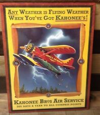 Kahonee Airplane Service Tin Metal Sign Picture Flying Pilot Plane Gift New USA