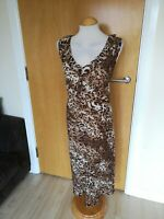 Ladies Dress Size 20 AGENDA Leopard Print Chiffon Party Evening Wedding Races