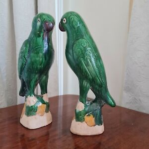 Chinese Green Glazed Parrots
