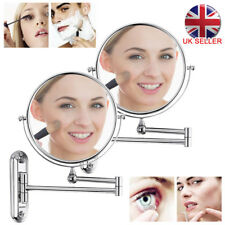 3X Extending Magnifying Makeup Bathroom Shaving Round 2-Side Mirror Wall Mount