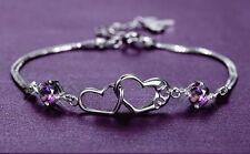 Bracelet 18KGold Plated Love Heart Link Bracelet Crystal Bracelet Pre GST Sale