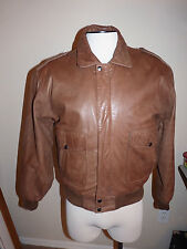Adler B52 Bomber Men S Brown Leather Jacket Zip Out Fleece Liner