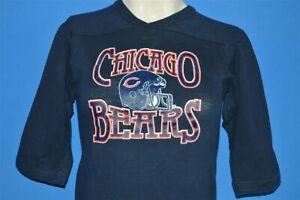 vintage 80s CHICAGO BEARS HELMET CHAMPION V NECK JERSEY t-shirt FOOTBALL YM