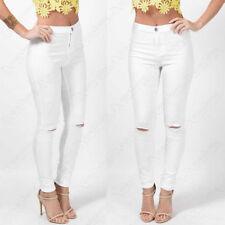 Cotton Blend Unbranded Regular High Trousers for Women