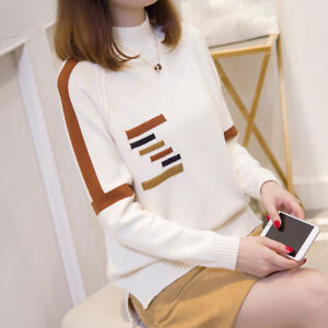 Women's Autumn winter Korean fashion High collar loose Knitting sweater coat new