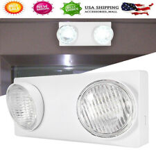 4W Rechargeable Indoor Emergency Exit Light LED 2 Heads Fixture Brightness Lamp