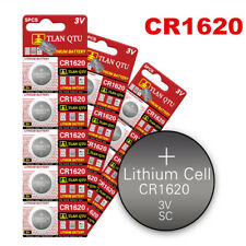 5PCS 3V CR1620 ECR1620 DL1620 Alkaline Button Cell Coin Battery Batteries