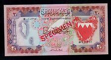 BAHRAIN SPECIMEN  20  DINARS  ( 1978 ) PICK # CS1 UNC.