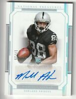 2018 Panini National Treasures Auto Holo Silver Marcell Ateman Rookie RC /25 160