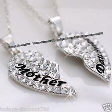 cadeau pour mère fille cristaux en argent collier de Noël elle maman femmes