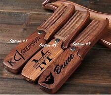 Custom Comb, For Men Beard, Mustache & Hair , Groomsmen, Dopp kit, grooming