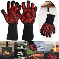 BBQ Grill Gloves Barbecue 1472℉ Heat Resistant Mitts Smoking Cooking Kitchen New