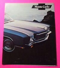1971 CHEVROLET MONTE CARLO  4-PAGE FOLDOUT AUTO SHOW/SHOWROOM HANDOUT..