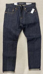 NWT Gap 1969 Japanese Selvedge Denim Slim Fit 30X28