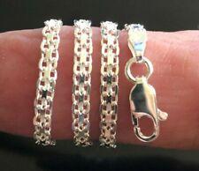 """3mm~ 7""""~ 24"""" $13.49~$31.49 Sterling Silver Bracelets/Anklets~Italian 925 Bismark"""