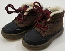 GN) OshKosh B'Gosh Bandit Duck Boots Sneaker Boys Size 6 Brown Black Faux Fur
