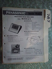 Panasonic re-6231 c service manual original repair book am/fm radio