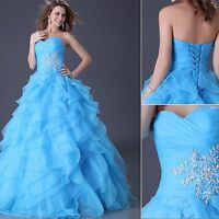 Grace Karin Quinceanera Masquerade Organza Ball Gown Party Evening Wedding Dress