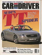 Car & Driver Apr 1996 - Audi TT Spider - Ferrari GTO - Gurney Indy Eagle - Viper