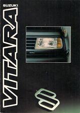 Suzuki Vitara 1990-91 UK Market Sales Brochure Soft Top Estate JLX SE Utility