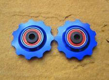 MT Zoom céramique bleue portant alliage roues jockey 11t paire fits shimano sram