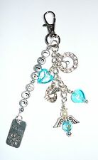 Made to order bag charm/key chain - choose your colour & charms