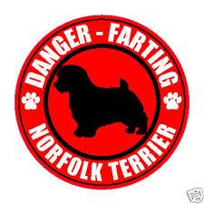 """Farting Norfolk Terrier Fart 5"""" Dog Sticker"""