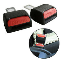2pcs Black Safety Seat Belt Buckle Clip Extender Auto Car Safety Alarm Stopper