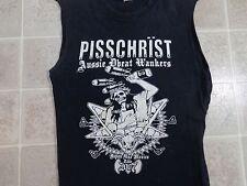 Pisschrist 2007 Tour T-Shirt Herren S/M 2-Kant Aussie D-Beat Wankers CD LP EP VTG