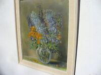 Stillleben  Blumen  Vase  signiert       K.  Fischer  48