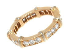 ESTATE CARTIER 18K YELLOW & WHITE GOLD DIAMOND ETERNITY BAND SIZE 49