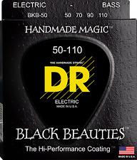 DR Strings BKB-50 BLACK BEAUTIES Coated Bass Guitar Strings - Heavy