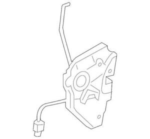 Genuine Acura Latch Assembly L Front Door Power 72150-SJA-A04