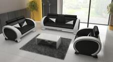 Ledersofa Sofa mit Barfunktion Designer Garnitur Couch Sofa 3 Sitzer Relaxcouch