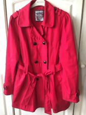New Look Trench Coat Size 14 Red