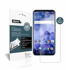 2x HTC U11 Plus Screen Protector matte Flexible Glass 9H dipos