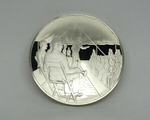 1974 Postmasters of America RURAL AMERICA #14 Sterling Silver Medal Coin FM