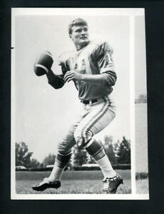 Detroit Lions & Bill Munson Thanksgiving Day 1970 NBC Promo Press Photo