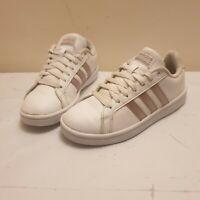 Adidas Cloudfoam Advantage Leather Trainers White Women's UK SIZE 4.5
