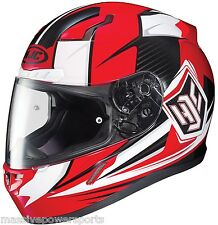 HJC CL-17 Striker Motorcycle Helmet Red Gray XXL Extra Extra Large Snell M2015