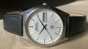 Vintage SEIKO Quartz Watch/ GRAND TWIN QUARTZ 9943-8010 SS 1978