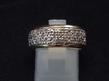 Sterling Silver & 18K Gold - VICTORIA TOWNSEND Dome DIAMOND Accent 4.6g Ring 7