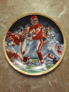 "1994 JOE MONTANA KC Chiefs 8 1/2"" Collectors Plate - Sports Impressions NFL"
