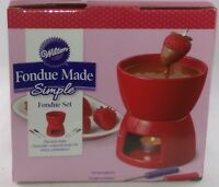 Wilton Fondue Made Simple Fondue Set Red Chocolate Cheese Sweets Valentines