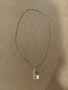 10K Yellow Gold Figaro Hollow Chain Gauge Necklace 20 inches Made in Italy
